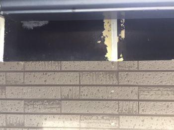 横浜市金沢区S様邸破風塗装前画像