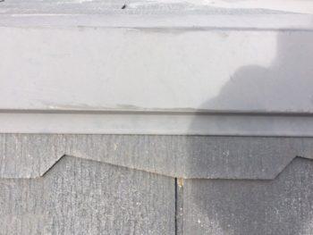 横浜市神奈川区H様邸屋根棟板金塗装前