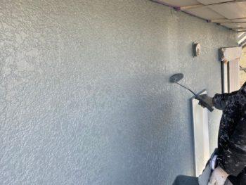 横浜市神奈川区S様邸ダイヤモンドコート外壁塗装施工中