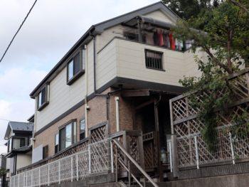 横浜市栄区E様邸外壁塗装施工前