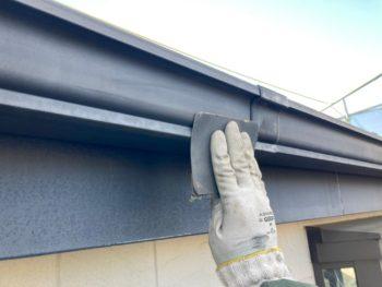 横浜市栄区E様邸付帯部塗装施工事例画像
