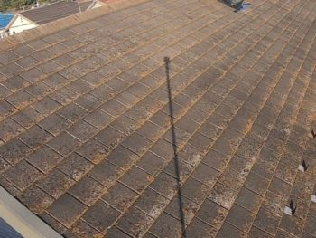 横浜市栄区T様邸サーモアイ4F屋根塗装塗り替え前