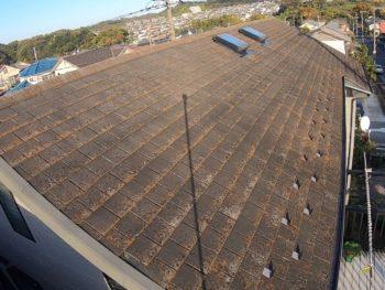 横浜市栄区T様邸屋根塗装施工前