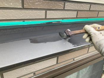 横浜市港南区H様邸霧除け庇塗装施工事例画像