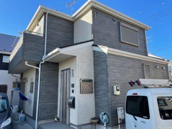 横浜市金沢区A様邸外壁塗り替え前画像