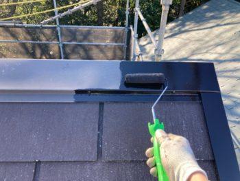 横浜市港南区H様邸屋根棟板金塗装施工事例