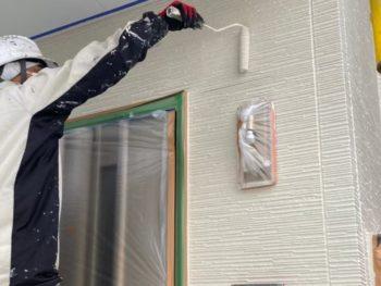 横浜市金沢区A様邸外壁塗り替え上塗り2回目