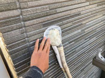 横浜市金沢区A様邸外壁塗装後サービス作業