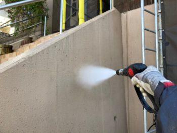横浜市港南区O様邸パーフェクトセラミックトップG外壁塗装前高圧洗浄作業