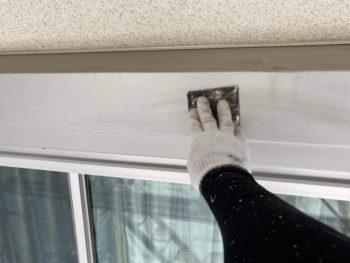横浜市旭区K様邸シャッターボックス塗り替え施工事例画像