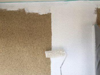 横浜市泉区W様邸外壁塗装下塗り施工中