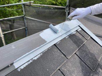 横浜市保土ヶ谷区H様邸屋根棟板金塗り替え施工事例画像